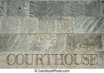 tribunal, dans, pierre