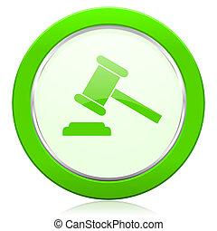 tribunal, enchère, symbole, signe, verdict, icône