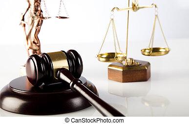 tribunal, marteau, thème, maillet, de, juge