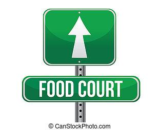tribunal nourriture, panneaux signalisations