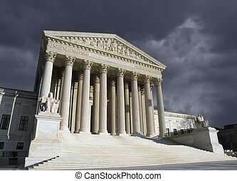 tribunal, suprême, washington dc, orage