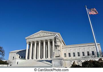tribunal supremo, edificio, en, washington dc