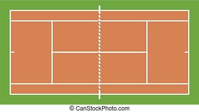 tribunal, tenis, diseño