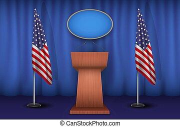 tribune, podium, maison blanche, microphone