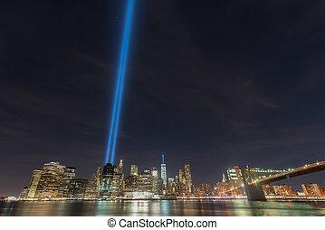 Tribute in Light - September 11 - New York City Manhattan ...