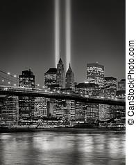Tribute in Light, September 11 Commemoration, New York City...