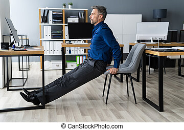 Triceps Dip Office Desk Chair Workout
