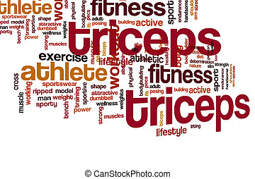 Triceps word cloud concept