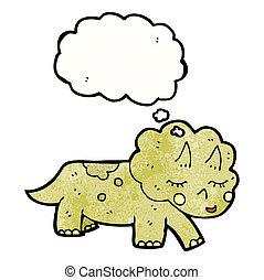 triceratops, dessin animé