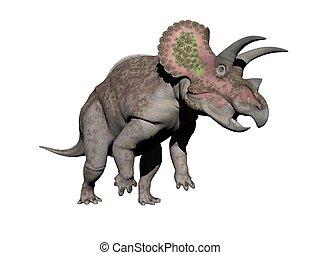 triceratops dinosaur - 3d render - triceratops dinosaur in ...