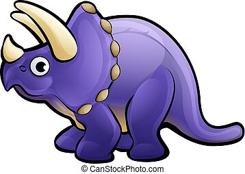 Triceratops Dinosaur Cartoon Character