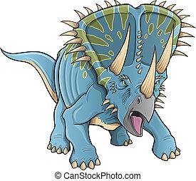 Triceratops Dinosaur Vector art - Triceratops Dinosaur...
