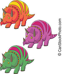 triceratops, karikatur