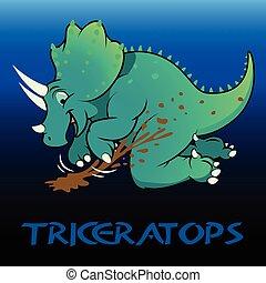 triceratops, schattig, dinosaurussen