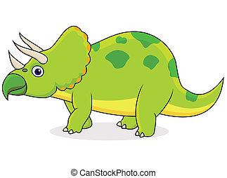 triceratops, spotprent