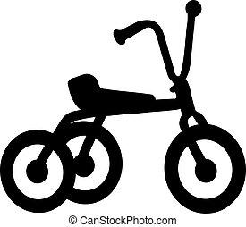 triciclo, icono