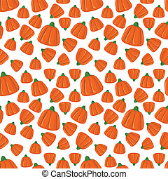 Trick or treat - Halloween seamless background with candies....