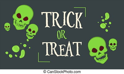 Trick or treat Halloween background animation