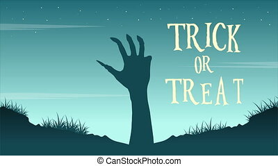Trick or treat Halloween day animation background