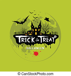 Trick or treat halloween design