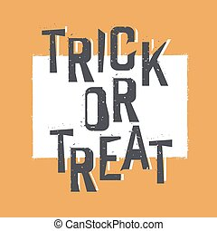 Trick or treat. Halloween design element