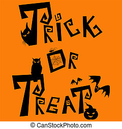 Trick or treat - Halloween picture. Boo!