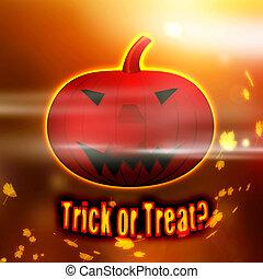 Trick or Treat Halloween Pumpkin