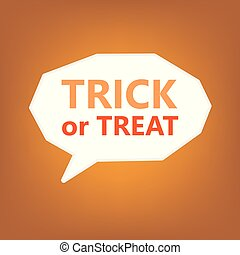 trick or treat halloween quote- vector illustration
