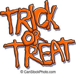 Trick or treat halloween text - Trick or treat vector ...