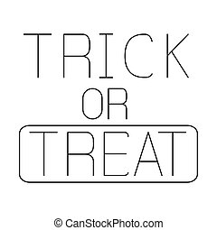trick or treat halloween vector design