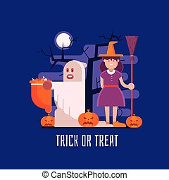 Trick or Treat Kids Halloween Card