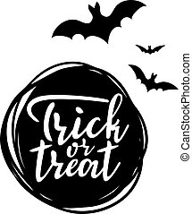 Trick or treat lettering for halloween party