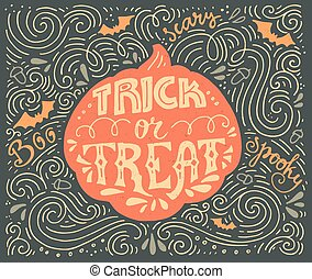 Trick-or-treat lettering - Trick or treat-inspirational ...
