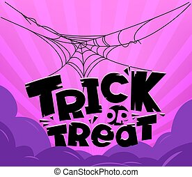 Trick or treat party vector concept