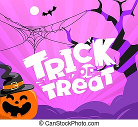 Trick or treat party vector illustration