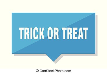 trick or treat price tag - trick or treat blue square price...