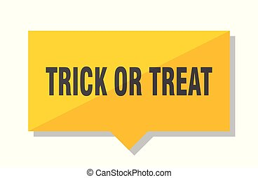 trick or treat price tag - trick or treat yellow square...