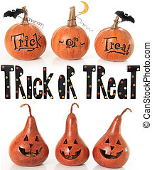 Trick or treat pumpkins - Collection of trick or treat...