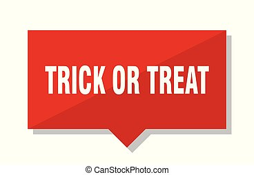 trick or treat red tag - trick or treat red square price tag