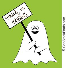 Trick or Treat Sign Ghost