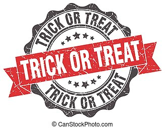 trick or treat stamp. sign. seal