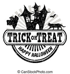Trick or treat stamp