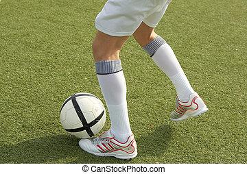 Player kicking