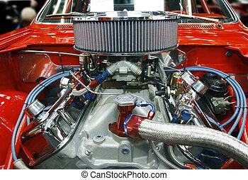 tricked, ydre, vogn motor