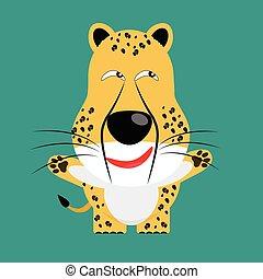 tricky cheetah gartoon character vector