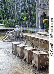 Summer Palace (Schloss Hellbrunn) - Tricky hidden fountains...