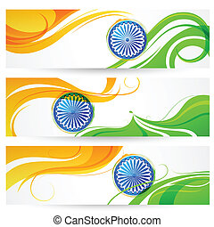 Tricolor India banner - illustration of tricolor India...