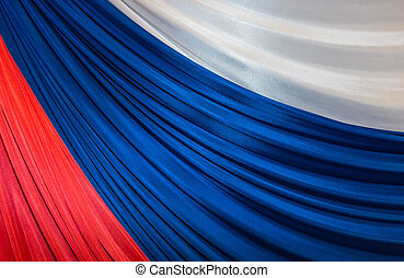 tricolor of Russian Federation - three colors banner of...