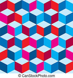 Tricolor optical background - Optical illusion background in...