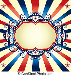 Tricolor US frame - A background to announce an event.